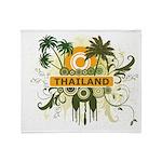 Palm Tree Thailand Throw Blanket