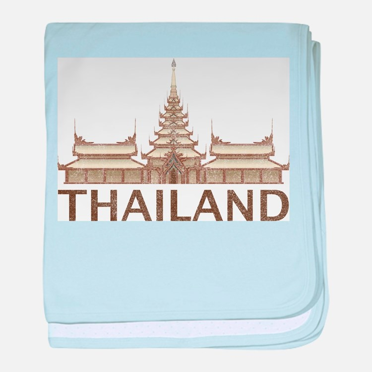 Vintage Thailand Temple baby blanket