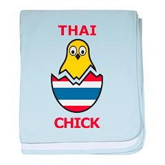 Thai Chick baby blanket