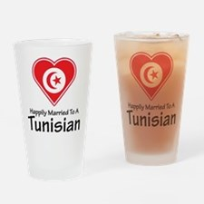 Happily Married Tunisian Pint Glass