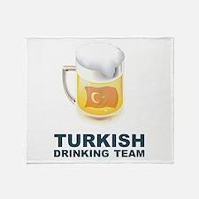Turkish Drinking Team Throw Blanket