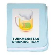 Turkmenistan Drinking Team baby blanket
