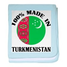 Made In Turkmenistan baby blanket