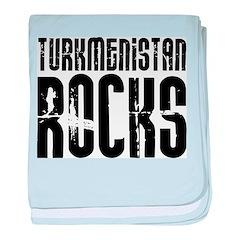 Turkmenistan Rocks baby blanket