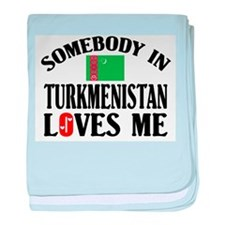 Somebody In Turkmenistan baby blanket