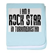 Rock Star In Turkmenistan baby blanket