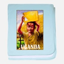Vintage Uganda Art baby blanket