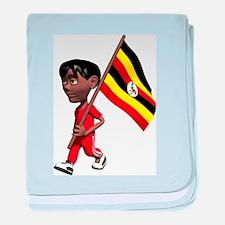 3D Uganda baby blanket
