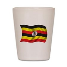 Wavy Uganda Flag Shot Glass