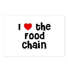 I * the Food Chain Postcards (Package of 8)