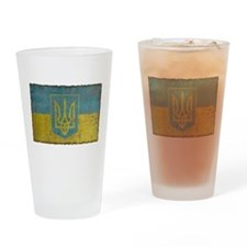 Vintage Ukraine Pint Glass