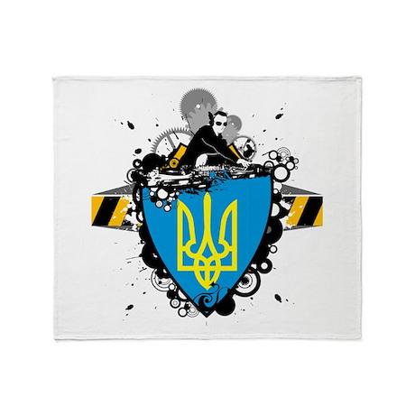 Hip Ukraine Throw Blanket