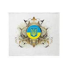 Stylish Ukraine Throw Blanket