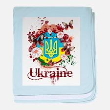 Butterfly Ukraine baby blanket
