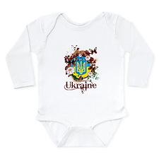 Butterfly Ukraine Long Sleeve Infant Bodysuit