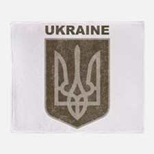 Vintage Ukraine Throw Blanket