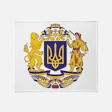 Ukraine Large Coat Of Arms Throw Blanket