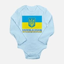 Ukraine Flag Long Sleeve Infant Bodysuit