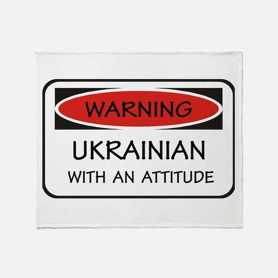 Attitude Ukrainian Throw Blanket