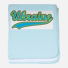 Retro Ukraine baby blanket