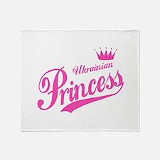 Ukrainian Princess Throw Blanket