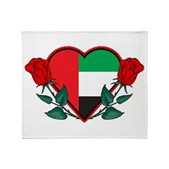 Heart UAE Throw Blanket