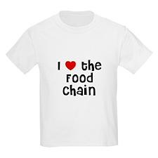 I * the Food Chain Kids T-Shirt