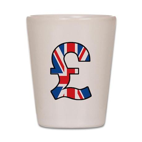 UK Pound Shot Glass