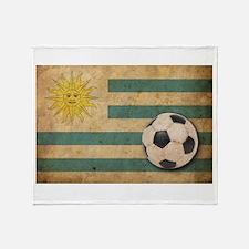Vintage Uruguay Football Throw Blanket