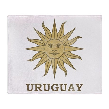 Vintage Uruguay Throw Blanket