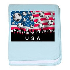 USA Soccer baby blanket
