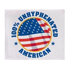 Unhyphenated American Throw Blanket