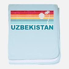 Retro Palm Tree Uzbekistan baby blanket