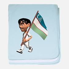 3D Uzbekistan baby blanket