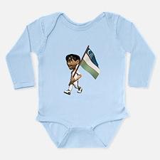 3D Uzbekistan Long Sleeve Infant Bodysuit
