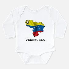 Map Of Venezuela Long Sleeve Infant Bodysuit