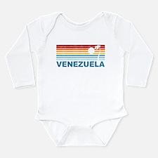 Retro Venezuela Palm Tree Long Sleeve Infant Bodys
