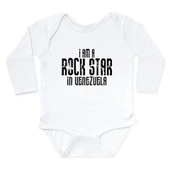 Rock Star In Venezuela Long Sleeve Infant Bodysuit