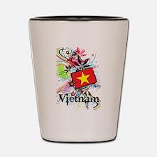 Flower Vietnam Shot Glass