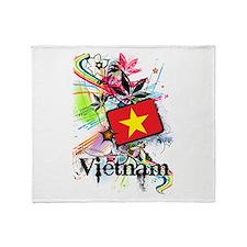 Flower Vietnam Throw Blanket
