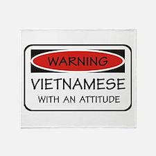 Attitude Vietnamese Throw Blanket