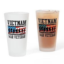 Vietnam War Veteran Pint Glass