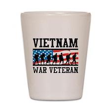 Vietnam War Veteran Shot Glass