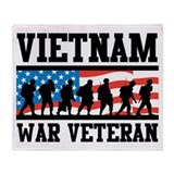 Vietnam veteran Fleece Blankets