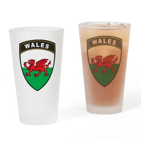 Wales Pint Glass