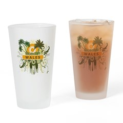 Palm Tree Wales Pint Glass