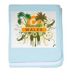 Palm Tree Wales baby blanket