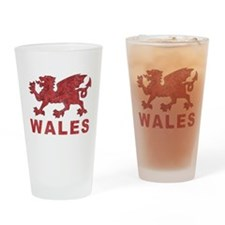 Vintage Wales Pint Glass