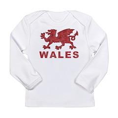 Vintage Wales Long Sleeve Infant T-Shirt