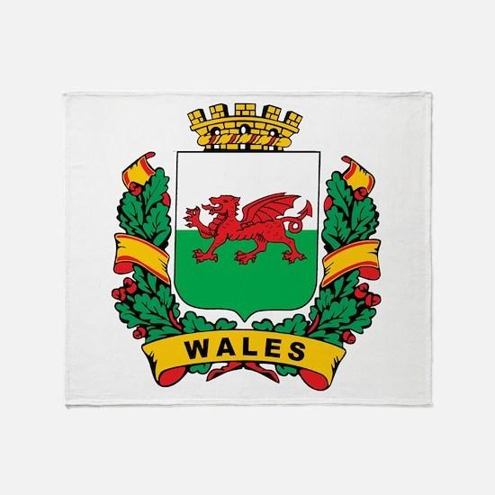 Wales Crest Throw Blanket